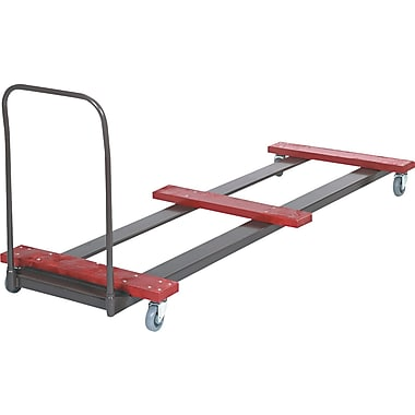 Bridgeport 8' Rectangular Table Truck, Black/Red