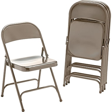 Virco ® Steel Folding Chair, Bronze