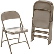 Virco ® Steel Folding Chair, Bronze