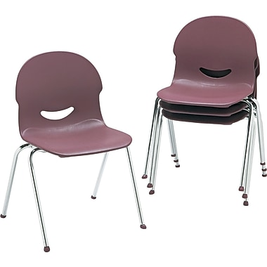 Virco ® IQ ® Flexible Polypropylene Stack Chair, Wine