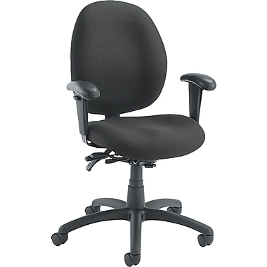 Global Malaga ® Low Back Multi-Tilter Polypropylene Swivel Chair, Asphalt