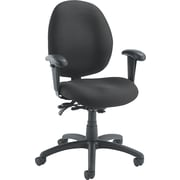 Global Malaga ® Low Back Multi-Tilter Polypropylene Swivel Chair, Asphalt