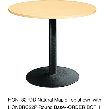 HON ® Single Column Hospitality Base, Black, 27 7/8in.H x 22in.W x 22in.D