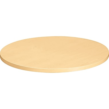 HON  Self-Edge 36in.(Dia) Round Hospitality Table Top, Natural Maple