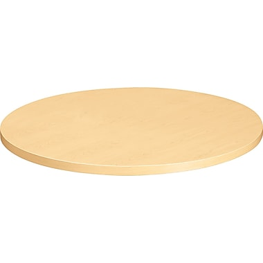 HON  Self-Edge 30in.(Dia) Round Hospitality Table Top, Natural Maple