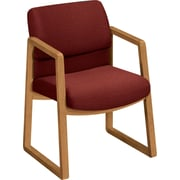HON  2400 100% Olefin Guest Arm Chair, Burgundy
