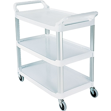 Rubbermaid ® 37 13/16in.H x 40 5/8in.W x 20in.D Commercial Open Sided Utility Cart, Off-White