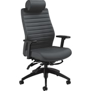 Global Aspen Executive Back Softhide Vinyl Multi-Tilt Chair With Headrest, Onyx