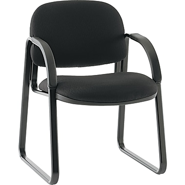 HON® Sensible Fabric Sled Base Guest Chair, Black (HON6008NT10T)