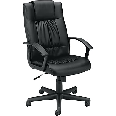 basyx ® by Hon VL141 High Back Vinyl Executive Chair, Black
