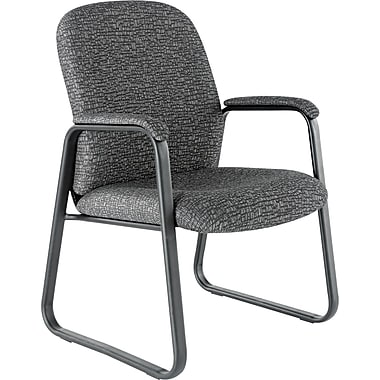 Alera® Genaro High Back 100% Polyester Guest Chair, Graphite