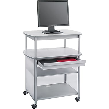 Safco® Impromptu™ 44 1/4in.H x 36 1/2in.W x 26in.D AV Cart With Storage Drawer, Gray