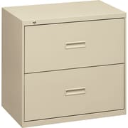 "basyx® by Hon 400 19 1/4""D 2 Drawer Lateral File, Putty"