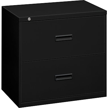 basyx  by Hon 400 19 1/4in.D 2 Drawer Lateral File, Black
