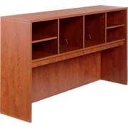 "Alera® Valencia Laminate Open Storage Hutch, 35 1/2""H x 64 3/4""W x 15""D, Medium Cherry"