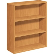 HON ® 3-Shelf 10500 Series Woodgrain Laminate Bookcase, Harvest
