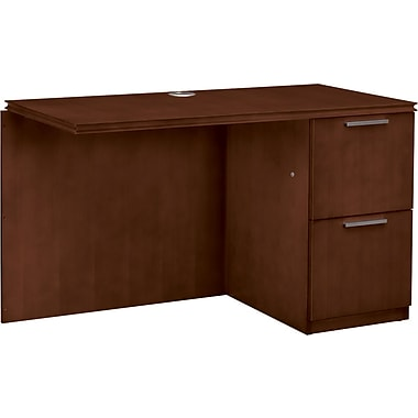 HON® Arrive™ Right Return For Single Left Pedestal Desk, 29 1/2in.H x 48in.W x 24in.D, Shaker Cherry