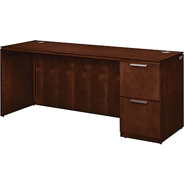 HON® Arrive™ Wood Veneer Base Right Single Pedestal Credenza, 29 1/2in.H x 72in.W, Shaker Cherry