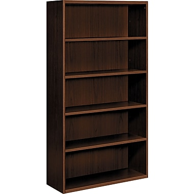 HON  Arrive 5-Shelf Wood Veneer Bookcase, Shaker Cherry