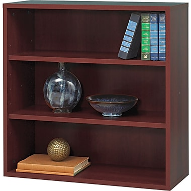 Safco  Apres Laminated Compressed Wood Open Bookcase, 29 3/4in.H x 29 3/4in.W, Mahogany