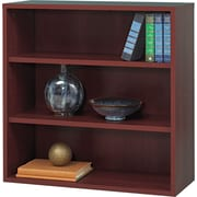 "Safco  Apres Laminated Compressed Wood Open Bookcase, 29 3/4""H x 29 3/4""W, Mahogany"