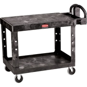 "Rubbermaid® 33 1/3""H x 25 7/8""W x 43 7/8""D Commercial Flat Shelf Utility Cart, Black"