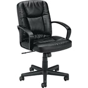 basyx® by Hon VL171 Mid Back Genuine Leather Executive Chair, Black
