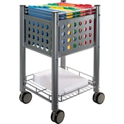 "Vertiflex™ 15 1/2""D 1-Shelf Sidekick File Cart, Matte Gray"