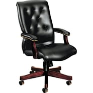 HON® 6540 Executive High Back Glove-Soft Vinyl Knee Tilt Chair, Black