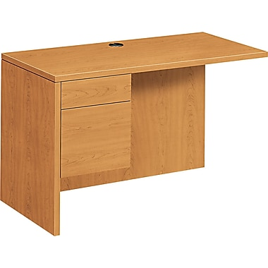 HON ® 10500 Woodgrain Laminate Base Left Workstation Return, 29 1/2in.H x 48in.W x 24in.D, Harvest