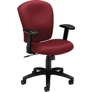 basyx by HON HVL220 Mid-Back Task/Computer Chair for Office and Computer Desks, Burgundy