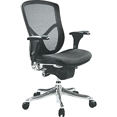 Alera EQ Ergonomic Multifunction Mid Back Mesh Chair, Black