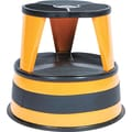 "Cramer® 14in.H x 15 5/8in.(Dia) Original ""Kik-Step"" Two-Step Steel Stool, Orange"
