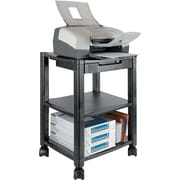Kantek 24 1/4H x 17W x 13 1/4D Mobile Printer Stand, Black