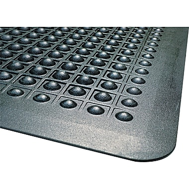 Guardian Flex Step Rubber Anti-Fatigue Mat, 60in.L x 36in.W, Black