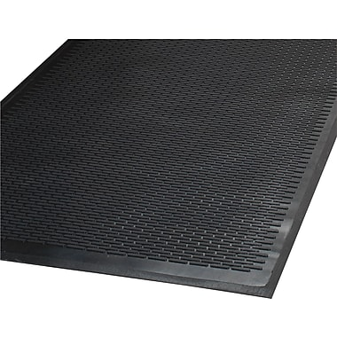 Guardian Clean Step Outdoor Rubber Scraper Mat, 60in.L x 36in.W, Black