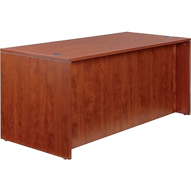 Woodgrain Laminate Straight Front Desk Shell, 29 1/2in.H x 65in.W