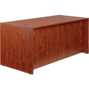 "Alera® Valencia Woodgrain Laminate Straight Front Desk Shell, 29 1/2""H x 65""W, Medium Cherry"