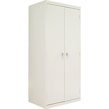 Alera® Assembled Storage Cabinet with Adjustable Shelves, Putty, 78in. H x 36in. W x 24in. D