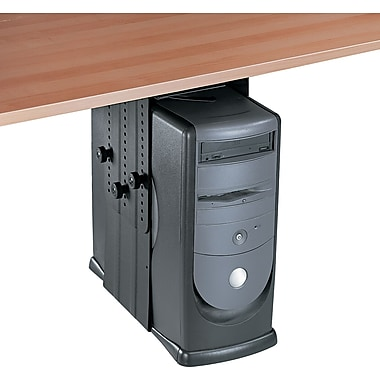 Fellowes ® 11in.H x 17in.W x 12in.D Steel Under Desk CPU Holder, Black