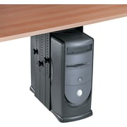 "Fellowes ® 11""H x 17""W x 12""D Steel Under Desk CPU Holder, Black"