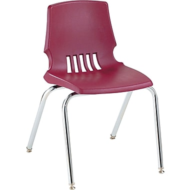 HON  Proficiency  Poly Stackable Student Shell Chair, Garnet