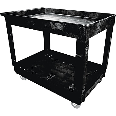 Rubbermaid® 31 1/4in.(H) x 24in.(W) x 40in.(D) Commercial Service/Utility Cart, Black