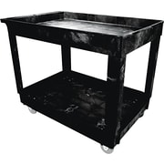 "Rubbermaid® 31 1/4""(H) x 24""(W) x 40""(D) Commercial Service/Utility Cart, Black"