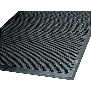 Guardian Clean Step Outdoor Rubber Scraper Mat, 72in.L x 48in.W, Black