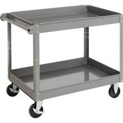 Tennsco 32(H) x 24(W) x 36(D) Two-Shelf Metal Cart, Gray
