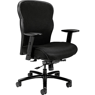 basyx® by Hon VL705 Big And Tall Mesh Fabric Chair, Black