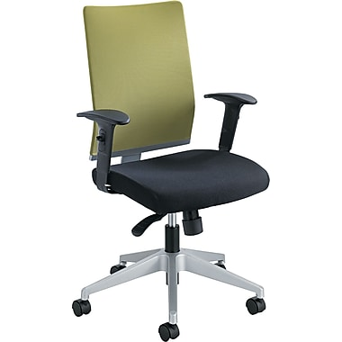 Safco  Tez Fabric Manager Synchro-Tilt Task Chair, Black/Green