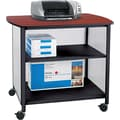 Safco ® Impromptu 31in.H x 34 3/4in.W x 25 1/2in.D Deluxe Machine Stand, Black/Cherry