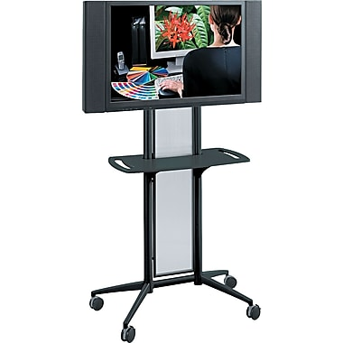 Safco ® Impromptu ® 65 1/2in.H x 38in.W x 20in.D Flat Panel TV Cart, Black